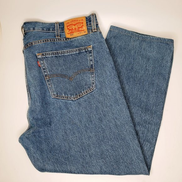 Levi's 505 Red Tag Washed Straight Jeans 42/30